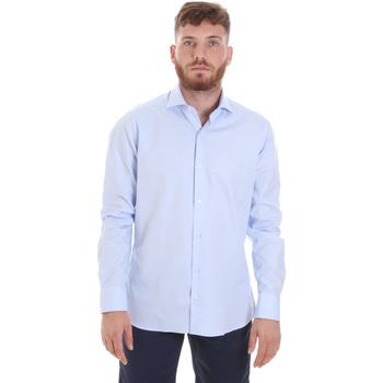 Textiel Heren Overhemden lange mouwen Les Copains 20P.887 P3196SL Blauw