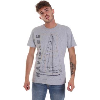 Textiel Heren T-shirts korte mouwen Navigare NV31109 Grijs
