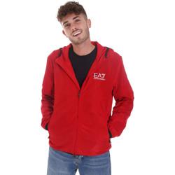 Textiel Heren Trainings jassen Ea7 Emporio Armani 8NPB04 PNN7Z Rood