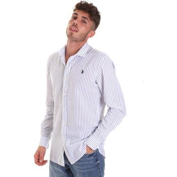 Textiel Heren Overhemden lange mouwen U.S Polo Assn. 58829 52741 Blauw