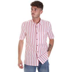 Textiel Heren Overhemden korte mouwen Antony Morato MMSS00154 FA420084 Rood