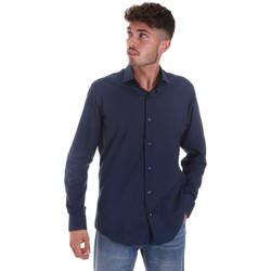 Textiel Heren Overhemden lange mouwen Les Copains 18P.884 P3196SL Blauw