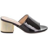Schoenen Dames Leren slippers Gold&gold A19 GJ113 Zwart