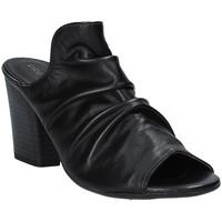 Schoenen Dames Leren slippers Pregunta PF3286 Zwart