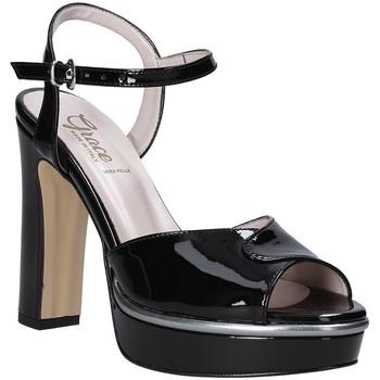 Schoenen Dames Sandalen / Open schoenen Grace Shoes 5753003 Zwart