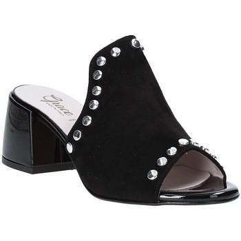 Schoenen Dames Leren slippers Grace Shoes 1576006 Zwart
