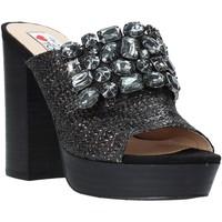Schoenen Dames Leren slippers Love To Love ELI483 Zwart