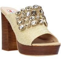 Schoenen Dames Leren slippers Love To Love ELI4177 Bruin