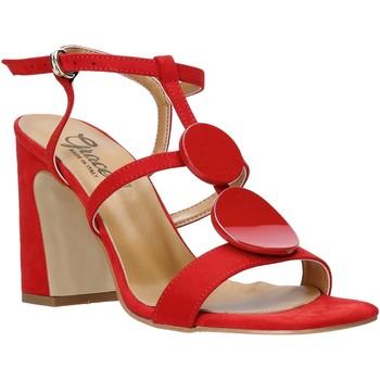 Schoenen Dames Sandalen / Open schoenen Grace Shoes 2384008 Rood