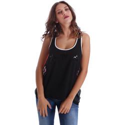 Textiel Dames Mouwloze tops Fornarina BE17T523CA05E9 Zwart