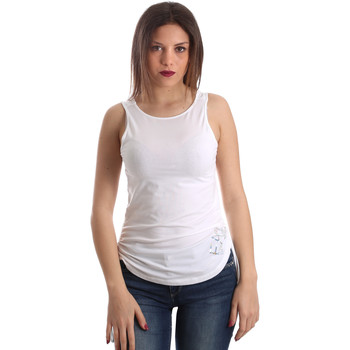 Textiel Dames Mouwloze tops Ea7 Emporio Armani 3GTH54 TJ28Z Wit