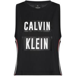 Textiel Dames Mouwloze tops Calvin Klein Jeans 00GWT9K122 Zwart