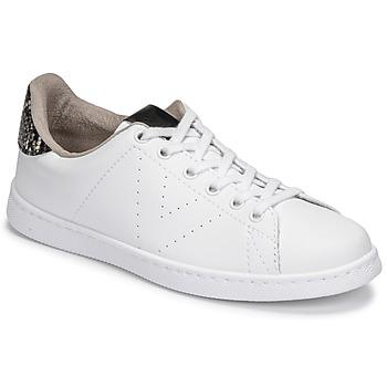 Schoenen Dames Lage sneakers Victoria TENIS VEGANA SERPIENTE Wit / Zwart