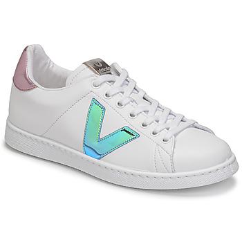 Schoenen Dames Lage sneakers Victoria TENIS VEGANA VINI Wit / Blauw / Roze