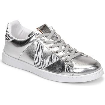 Schoenen Dames Lage sneakers Victoria TENIS METALIZADO Zilver
