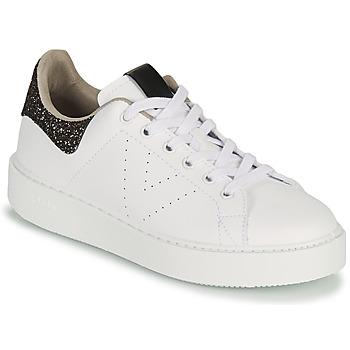 Schoenen Dames Lage sneakers Victoria UTOPIA GLITTER Wit / Brown