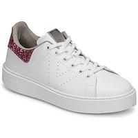 Schoenen Dames Lage sneakers Victoria UTOPIA GLITTER Wit / Roze