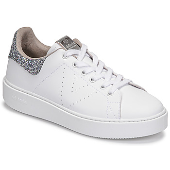 Schoenen Dames Lage sneakers Victoria UTOPIA GLITTER Wit / Zilver