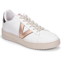 Schoenen Dames Lage sneakers Victoria SIEMPRE BASKET VEGANA METALIZADO Wit