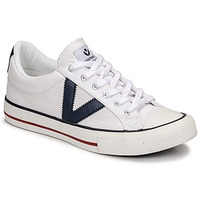 Schoenen Lage sneakers Victoria TRIBU LONA CONTRASTE Wit / Blauw