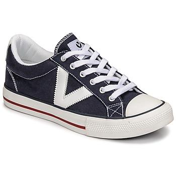 Schoenen Lage sneakers Victoria TRIBU LONA CONTRASTE Blauw