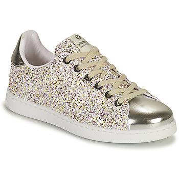 Schoenen Meisjes Lage sneakers Victoria TENIS GLITTER Zilver