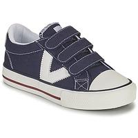 Schoenen Jongens Lage sneakers Victoria TRIBU TIRAS LONA Blauw