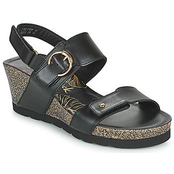 Schoenen Dames Sandalen / Open schoenen Panama Jack VELVET Zwart
