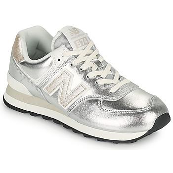 Schoenen Dames Lage sneakers New Balance 574 Zilver