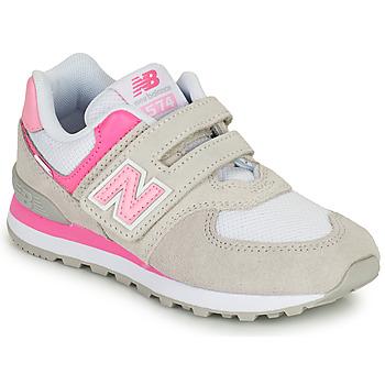 Schoenen Meisjes Lage sneakers New Balance 574 Grijs / Roze
