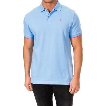 Textiel Heren Polo's korte mouwen Hackett Str Inner Clr Hackett Londres Blauw