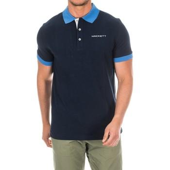 Textiel Heren Polo's korte mouwen Hackett Polo de golf Blauw
