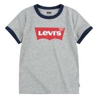 Textiel Jongens T-shirts korte mouwen Levi's BATWING RINGER TEE Grijs