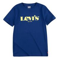 Textiel Jongens T-shirts korte mouwen Levi's GRAPHIC TEE Blauw
