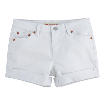 Textiel Meisjes Korte broeken / Bermuda's Levi's 4E4536-001 Wit