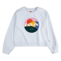 Textiel Meisjes Sweaters / Sweatshirts Levi's 4ED410-001 Wit