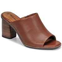 Schoenen Dames Leren slippers Tamaris NOAMY Brown