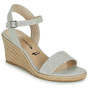 Schoenen Dames Sandalen / Open schoenen Tamaris LIVIAN Marine / Wit