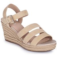 Schoenen Dames Sandalen / Open schoenen Geox D SOLEIL C Beige