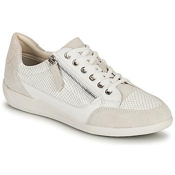 Schoenen Dames Lage sneakers Geox D MYRIA A Wit