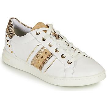 Schoenen Dames Lage sneakers Geox D JAYSEN A Wit / Goud