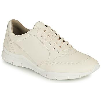 Schoenen Dames Lage sneakers Geox D SUKIE A Wit