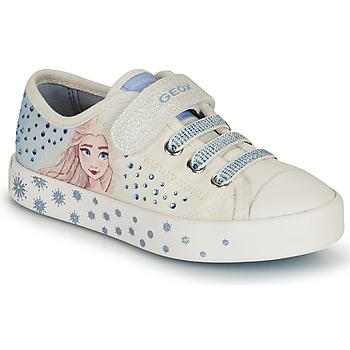 Schoenen Meisjes Lage sneakers Geox JR CIAK GIRL Wit / Blauw