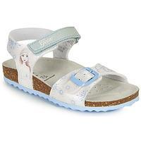 Schoenen Meisjes Sandalen / Open schoenen Geox ADRIEL GIRL Wit / Blauw