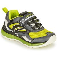 Schoenen Jongens Lage sneakers Geox ANDROID BOY Grijs / Lime