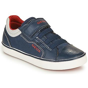 Schoenen Jongens Lage sneakers Geox GISLI BOY Marine / Rood