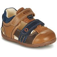 Schoenen Jongens Sandalen / Open schoenen Geox KAYTAN Brown / Marine