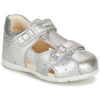 Schoenen Meisjes Sandalen / Open schoenen Geox KAYTAN Zilver