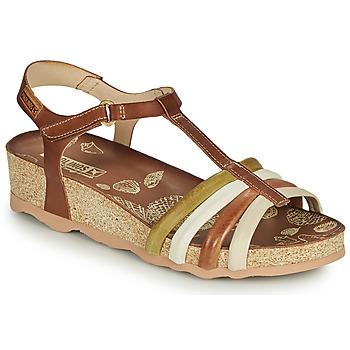 Schoenen Dames Sandalen / Open schoenen Pikolinos MAHON W9E Brown / Wit
