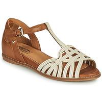 Schoenen Dames Sandalen / Open schoenen Pikolinos TALAVERA W3D Wit / Brown